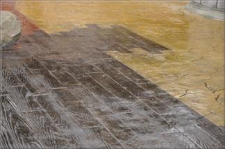 Ražený beton - imitace dřeva 33